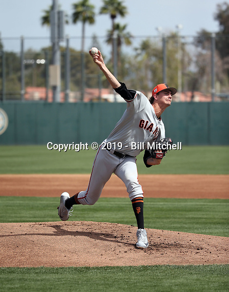 Sean Hjelle - San Francisco Giants 2019 spring training (Bill Mitchell)