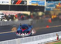 Sep 16, 2018; Mohnton, PA, USA; NHRA funny car driver Jonnie Lindberg during the Dodge Nationals at Maple Grove Raceway. Mandatory Credit: Mark J. Rebilas-USA TODAY Sports