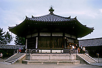 Nara Prefecture: Yumedono (Hall of Dreams), Horyuji, East Minster. Photo '82.
