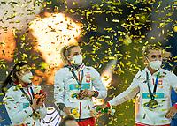 2nd May 2021; Silesian Stadium, Chorzow, Poland; World Athletics Relays 2021. Day 2; Team Poland celebrate their gold in the 4 x 200