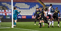 Bolton Wanderers' Arthur Gnahoua (centre) scoring his side's second goal <br /> <br /> Photographer Andrew Kearns/CameraSport<br /> <br /> EFL Papa John's Trophy - Northern Section - Group C - Bolton Wanderers v Newcastle United U21 - Tuesday 17th November 2020 - University of Bolton Stadium - Bolton<br />  <br /> World Copyright © 2020 CameraSport. All rights reserved. 43 Linden Ave. Countesthorpe. Leicester. England. LE8 5PG - Tel: +44 (0) 116 277 4147 - admin@camerasport.com - www.camerasport.com
