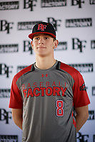 Carson Phillips (8) of Delmar Sr High School in Delmar, Delaware during the Baseball Factory All-America Pre-Season Tournament, powered by Under Armour, on January 12, 2018 at Sloan Park Complex in Mesa, Arizona.  (Zachary Lucy/Four Seam Images)