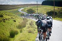 peloton round the bend<br /> <br /> 2013 Tour of Britain<br /> stage 5: Machynlleth to Caerphilly (177km)