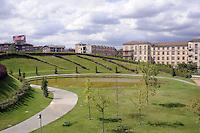 - Milan, construction site for urban planning conversion of Portello area, the new gardens....- Milano, cantieri edili per la riconversione urbanistica dell'area del  Portello, i nuovi giardini