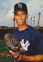 Tampa Yankees Mariano Rivera poses for a photo before a 1994 Florida State League game against the Lakeland Tigers at Joker Marchant Stadium in Lakeland, Florida.  (Tyler Bolden/Four Seam Images)