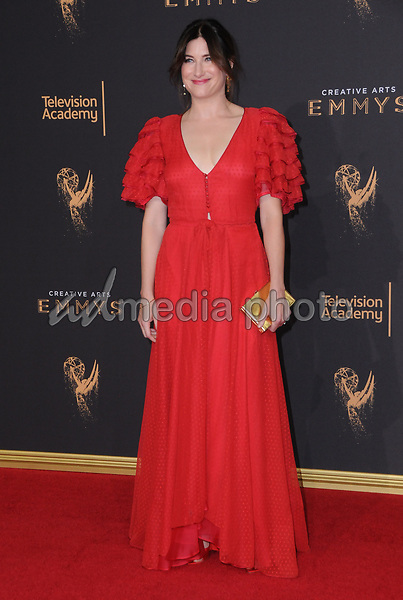 10 September  2017 - Los Angeles, California - Kathryn Hahn. 2017 Creative Arts Emmys - Arrivals held at Microsoft Theatre L.A. Live in Los Angeles. Photo Credit: Birdie Thompson/AdMedia