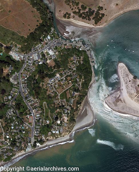aerial photo map of  Bolinas, Marin County, California