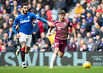 Rangers v St Johnstone…16.02.19…   Ibrox    SPFL<br />Matty Kennedy goes past Connor Goldson<br />Picture by Graeme Hart. <br />Copyright Perthshire Picture Agency<br />Tel: 01738 623350  Mobile: 07990 594431