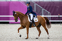 EQU-Nicolas Wettstein rides Altier d'Aurois during the Eventing Dressage Team and Individual Day 2 - Session 3. Tokyo 2020 Olympic Games. Saturday 31 July 2021. Copyright Photo: Libby Law Photography