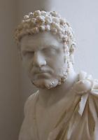 Germania Berlino 2007  Pergamon Museum Busto in marmo dell'imperatore  Caracalla (211 -217 dC)