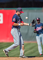 5 September 2016: Lowell Spinners infielder C.J. Chatham in action against the Vermont Lake Monsters at Centennial Field in Burlington, Vermont. The Monsters defeated the Spinners 9-5 to close out their 2016 NY Penn League season. Mandatory Credit: Ed Wolfstein Photo *** RAW (NEF) Image File Available ***