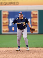 Eustis Panthers first baseman Scout Updike (33) during practice before the 42nd Annual FACA All-Star Baseball Classic on June 5, 2021 at Joker Marchant Stadium in Lakeland, Florida.  (Mike Janes/Four Seam Images)
