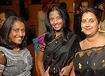 Roopa Misra, Shoba Tripathy and Rashmi Jaitly at the Indian Film Festival Celebrity Gala at the InterContinental Hotel Saturday evening Sept. 26,2009. (Dave Rossman/For the Chronicle)