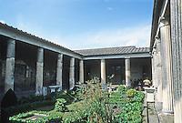 Italy: Pompeii--House of the Vetti, Garden.