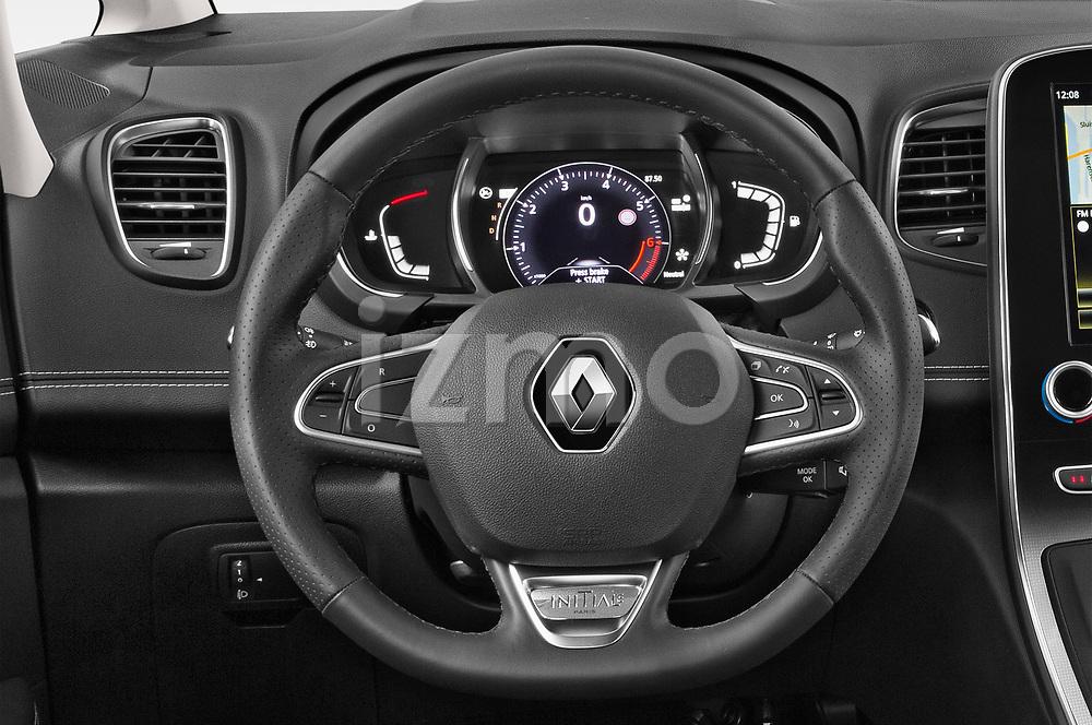 Car pictures of steering wheel view of a 2018 Renault Grand Scenic initiale paris 5 Door Mini Van