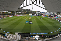 A general view from the RA Vance Stand during day three of the second International Test Cricket match between the New Zealand Black Caps and West Indies at the Basin Reserve in Wellington, New Zealand on Sunday, 13 December 2020. Photo: Dave Lintott / lintottphoto.co.nz