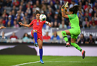 Saint Paul, MN - SEPTEMBER 03: Carli Loyd #10 of the United States during their 2019 Victory Tour match versus Portugal at Allianz Field, on September 03, 2019 in Saint Paul, Minnesota.