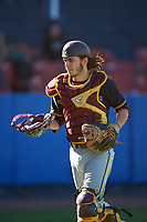 Bethune-Cookman Wildcats catcher Chase DeBonis (32) during a game against the Wisconsin-Milwaukee Panthers on February 26, 2016 at Chain of Lakes Stadium in Winter Haven, Florida.  Wisconsin-Milwaukee defeated Bethune-Cookman 11-0.  (Mike Janes/Four Seam Images)