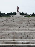 Kim IL Sung - Denkmal bei Kaesong, Nordkorea, Asien<br /> Kim il Sung monument near Kaesong, North Korea, Asia