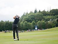 4th July 2021; Mount Juliet Golf Club, Kilkenny, Ireland; Dubai Duty Free Irish Open Golf, Day Four; Maximilian of Germany takes his  second shot from the 8th fairway