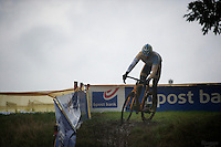 Rob Peeters (BEL) testing the course<br /> <br /> Bpost Bank Trofee - GP Mario De Clerq 2013