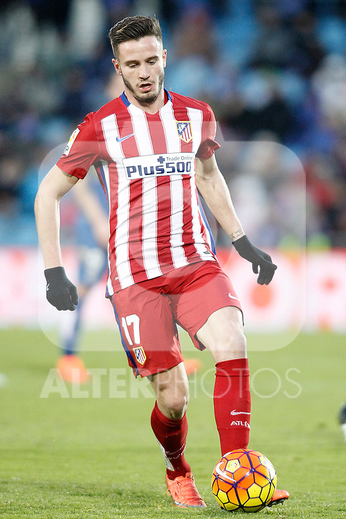 Atletico de Madrid's Saul Niguez during La Liga match. February 14,2016. (ALTERPHOTOS/Acero)