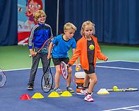 Groningen, Netherlands, 30 June, 2017, Tenniskids, Stadjershal, Kid playing tennis<br /> Photo: Henk Koster/tennisimages.com