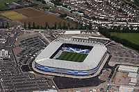 Aerial view of the new Cardiff City Football Club ground