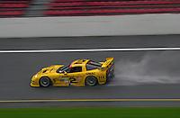 The eventual winner, the #2 Corvette practices in the rain..39th Rolex 24 at Daytona, 3/4 February,2001 Daytona International Speedway  Daytona Beach,Florida,USA.©F.Peirce Williams 2001 ..