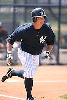 March 17th 2008:  Justin Snyder of the New York Yankees minor league system during Spring Training at Legends Field Complex in Tampa, FL.  Photo by:  Mike Janes/Four Seam Images