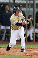February 27, 2010:  First Baseman Grant Buckner (28) of West Virginia Mountaineers during the Big East/Big 10 Challenge at Raymond Naimoli Complex in St. Petersburg, FL.  Photo By Mike Janes/Four Seam Images