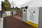 A general view of the Snoopy Museum Tokyo in Roppongi on April 21, 2016, Tokyo, Japan. Snoopy Museum Tokyo is the first outside the United States dedicated to the artwork of Charles M. Schulz. On display are some 60 original comic strips selected by Jean Schulz, wife of Peanuts creator, and personal gifts from fans that she has received over the years. My Favorite Peanuts is the first of six rotating exhibitions organised by the Charles M. Schulz Museum in Santa Rosa, California, to be displayed. The temporary museum will be open for 2 1/2 years. (Photo by Rodrigo Reyes Marin/AFLO)