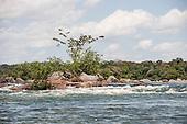 Xingu River, Para State, Brazil. Beginning of the rapids.