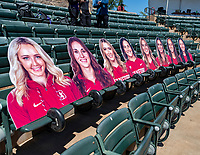 STANFORD, CA - MAY 15: Senior photos before a game between University of Washington and Stanford Softball at Boyd & Jill Smith Family Stadium on May 15, 2021 in Stanford, California.