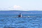 Port Townsend, Rat Island Regatta, rowers, Mike Walsh, Maas 24, racing, Sound Rowers, Rat Island Rowing Club, Puget Sound, Olympic Peninsula, Washington State, water sports, rowing, kayaking, competition,