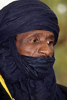 Niamey, Niger - Tuareg Man, Veil Covering Mouth, as is the Tuareg Custom