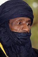 Niamey, Niger - Tuareg Man, Veil Covering Mouth, as is the Tuareg Custom