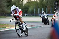 Anna Plichta (POL/Trek-Segafredo)<br /> <br /> Women Elite Time trial from Imola to Imola (31.7km)<br /> <br /> 87th UCI Road World Championships 2020 - ITT (WC)<br /> <br /> ©kramon