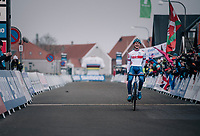 A dominant Ben Tulett (GBR) wins the Men's Junior race<br /> <br /> UCI 2019 Cyclocross World Championships<br /> Bogense / Denmark<br /> <br /> ©kramon