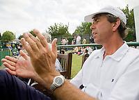 26-6-08, England, Wimbledon, Tennis, Michiel Schapers, coach van Erakovic