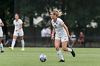 NEWTON, MA - AUGUST 29: Emily Knous #10 of Boston College brings the ball forward during a game between University of Connecticut and Boston College at Newton Campus Soccer Field on August 29, 2021 in Newton, Massachusetts.