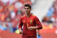 4th June 2021; Madrid, Spain International football friendly, Spain versus Portugal,  Alvaro Morata of Spain