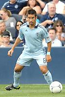 Kansas City midfielder Paulo Nagamura (6) in action... Sporting Kansas City defeated San Jose Earthquakes 2-1 at LIVESTRONG Sporting Park, Kansas City, Kansas.