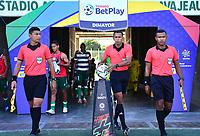 VALLEDUPAR - COLOMBIA, 27-02-2021: Valledupar F. C. y Leones Itagüi F. C. durante partido de la fecha 8 por el Torneo BetPlay DIMAYOR 2021 en el estadio Armando Maestre Pavajeau de la ciudad de Valledupar. / Valledupar F. C. and Leones Itagüi F. C. during a match of the 8th for the BetPlay DIMAYOR 2021 Tournament at the Armando Maestre Pavajeau stadium in Valledupar city. Photo: VizzorImage / Adamis Guerra / Cont.