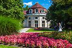 Deutschland, Bayern, Berchtesgadener Land, Bad Reichenhall: Konzertrotunde im Koeniglichen Kurpark | Germany, Bavaria, Upper Bavaria, Berchtesgadener Land, Bad Reichenhall: Concert Rotunda in Royal Spa Gardens