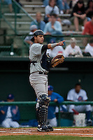 April 10th 2010: Anderson De La Rosa oof the Brevard County Manatees, the Florida State League High-A affiliate of the Milwaukee Brewers in a game against the of the Daytona Cubs, the Florida State League High-A affiliate of the Chicago Cubs at Jackie Robinson Ballpark in Daytona Beach, FL (Photo By Scott Jontes/Four Seam Images)