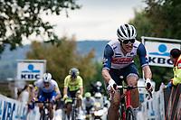 Jasper Stuyven (BEL/Trek-Segafredo) up the Oude Kwaremont<br /> <br /> 104th Ronde van Vlaanderen 2020 (1.UWT)<br /> 1 day race from Antwerpen to Oudenaarde (BEL/243km) <br /> <br /> ©kramon