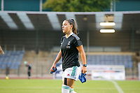 Luna Vanzeir (10) of OHL pictured before  a female soccer game between FC Femina White Star Woluwe and Oud Heverlee Leuven on the fourth matchday in the 2021 - 2022 season of Belgian Scooore Womens Super League , Friday 10 th of September 2021  in Woluwe , Belgium . PHOTO SPORTPIX | SEVIL OKTEM