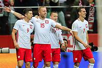 04.09.2017, Warszawa, pilka nozna, kwalifikacje do Mistrzostw Swiata 2018, Polska - Kazachstan, Kamil Glik (POL)  gol bramka radosc goal celebration, Robert Lewandowski (POL), Piotr Zielinski (POL), Arkadiusz Milik (POL), Poland - Kazakhstan, World Cup 2018 qualifier, football, fot. Tomasz Jastrzebowski / Foto Olimpik<br /><br />POLAND OUT !!!! *** Local Caption *** +++ POL out!! +++<br /> Contact: +49-40-22 63 02 60 , info@pixathlon.de