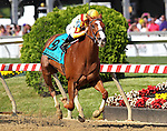 May 15, 2015: Keen Pauline, Javier Castellano up, wins the Grade II  at Pimlico Race Course in Baltimore, MD. Trainer is Dale Romans, owner is Stonestreet Stables. Joan Fairman Kanes/ESW/CSM